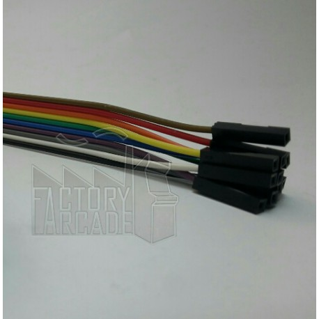 10 CABLES PUENTE GPIO CONECTOR DUPONT HEMBRA/HEMBRA