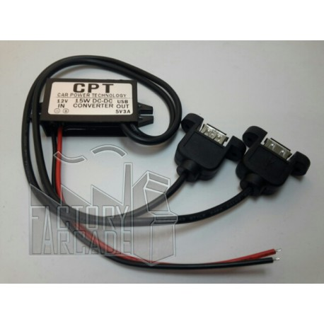 ADAPTOR DE DC/DC  12V A 5V DOBLE USB