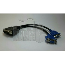 CABLE DMS-59 A 2 SALIDAS VGA