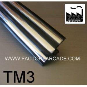 TM3 NEGRO Y CROMO TIRAS 19mm