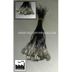 CABLE MASAS FASTON 4.8mm CON FUNDA