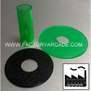 SHAFT COVER AND DUST WHASHER KIT VERDE TRANSLUCIDO