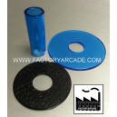 SHAFT COVER AND DUST WHASHER KIT AZUL TRANSLUCIDO
