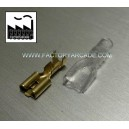 CONECTOR FASTON 6,3mm FUNDA SILICONA X 10