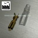 CONECTOR FASTON 2,8mm FUNDA SILICONA X 10
