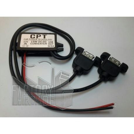 ADAPTOR DE DC/DC  12V A 5V DOBLE USB