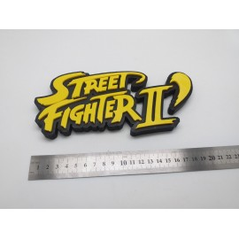 CARTEL LOGO IMPRESION STREET FIGHTER II