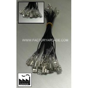 CABLE MASAS FASTON 4.8mm CON FUNDA