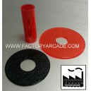 SHAFT COVER AND DUST WHASHER KIT ROJO TRANSLUCIDO
