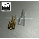 CONECTOR FASTON 4,8mm FUNDA SILICONA X 10