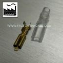 CONECTOR FASTON 2,8mm FUNDA SILICONA X 10